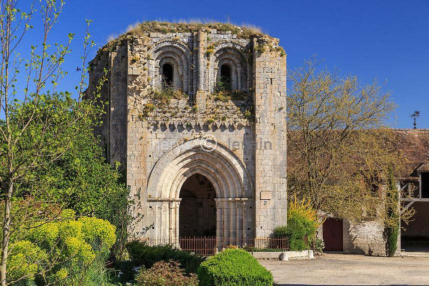 France, Seine-et-Marne (77) , Château-Landon, la Tour Saint-André, vestige de l'ancien prieuré de Saint-André // France, Seine et Marne, Chateau Landon, Saint Andre Tower
