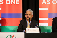 Toronto, Ontario - Saturday December 09, 2017: U.S. Soccer Federation President Sunil Gulati. The United Bid for 2026 FIFA World Cup Presentation to Media was held at the Westin Harbour Castle - Harbour Ballroom.
