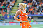 The Hague, Netherlands, June 14: Margot van Geffen #30 of The Netherlands in action during the field hockey gold medal match (Women) between Australia and The Netherlands on June 14, 2014 during the World Cup 2014 at Kyocera Stadium in The Hague, Netherlands. Final score 2-0 (2-0)  (Photo by Dirk Markgraf / www.265-images.com) *** Local caption ***
