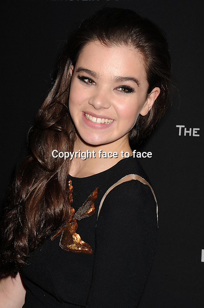 BEVERLY HILLS, CA- JANUARY 12: Actress Hailee Steinfeld attends The Weinstein Company &amp; Netflix 2014 Golden Globes After Party held at The Beverly Hilton Hotel on January 12, 2014 in Beverly Hills, California.<br /> Credit: Mayer/face to face<br /> - No Rights for USA, Canada and France -