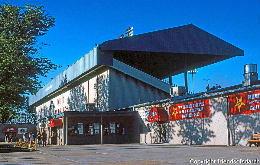 Ballparks: Toledo, OH. Ned Skeldon Stadium--Exterior.  Photo 1997.