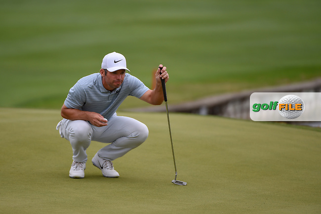 Paul Casey (GBR) lines up his putt on 12 during day 3 of the WGC Dell Match Play, at the Austin Country Club, Austin, Texas, USA. 3/29/2019.<br /> Picture: Golffile | Ken Murray<br /> <br /> <br /> All photo usage must carry mandatory copyright credit (© Golffile | Ken Murray)