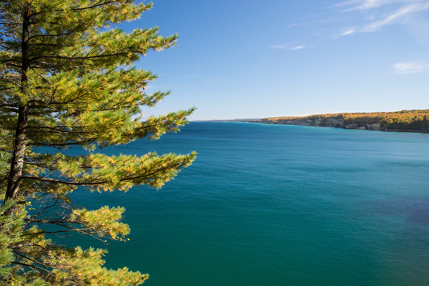 Lake Superior at Pictured Rocks National Lakeshore on Michigan's Upper Peninsula.