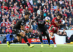 Liverpool's Mohamed Salah fires in a shot during the premier league match at the Anfield Stadium, Liverpool. Picture date 19th August 2017. Picture credit should read: David Klein/Sportimage