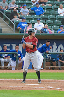 Cody Jones (3) of the Idaho Falls Chukars at bat against the Ogden Raptors in Pioneer League action at Lindquist Field on August 26, 2015 in Ogden, Utah. Ogden defeated the Chukars 5-1.  (Stephen Smith/Four Seam Images)\