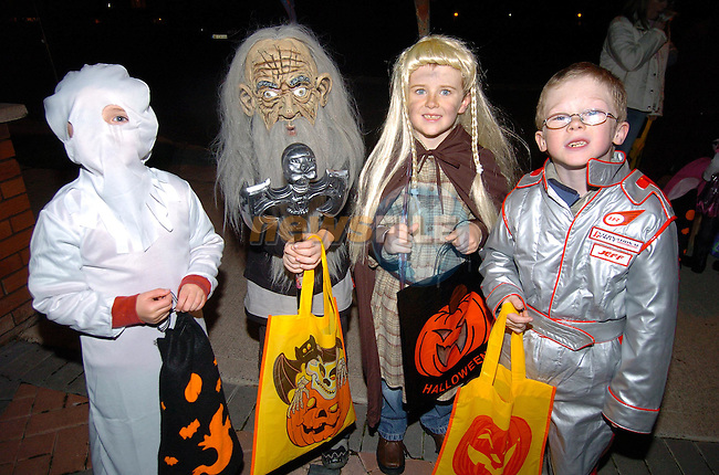 Ronan Devine, Andrew, Connor and Ryan Coleman dressed up for trick or treating at Halloween..Photo Fran Caffrey Newsfile.ie..This Picture has been sent to you by Newsfile Ltd..The Studio,.Millmount Abbey,.Drogheda,.Co. Meath,.Ireland..Tel: +353(0)41-9871240.Fax: +353(0)41-9871260.ISDN: +353(0)41-9871010.www.newsfile.ie..general email: pictures@newsfile.ie