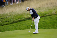 Justin Thomas (Team USA) on the on the 8th during the friday fourballs at the Ryder Cup, Le Golf National, Iles-de-France, France. 27/09/2018.<br /> Picture Fran Caffrey / Golffile.ie<br /> <br /> All photo usage must carry mandatory copyright credit (© Golffile | Fran Caffrey)