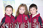 HOME: Daniel Moriarty,Jessica O'Shea and Allen Wall- Griffin, on their way home after their first day at Moyderwell Primary School, Tralee on Monday....