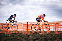 Ryan Kamp (NED) and Antoine Benoist (FRA)<br /> <br /> Men's U23 race<br /> UCI 2020 Cyclocross World Championships<br /> Dübendorf / Switzerland<br /> <br /> ©kramon