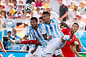 Ezequiel Garay, Marcos Rojo (ARG), JULY 1, 2014 - Football / Soccer : FIFA World Cup Brazil 2014 Round of 16 match between Argentina 1-0 Switzerland at Arena de Sao Paulo in Sao Paulo, Brazil. (Photo by Maurizio Borsari/AFLO)