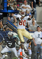 Sept. 19, 2009; Provo, UT, USA; Florida State Seminoles wide receiver (80) Jarmon Fortson against the BYU Cougars at LaVell Edwards Stadium. Florida State defeated BYU 54-28. Mandatory Credit: Mark J. Rebilas-