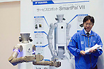 November 9th, 2011 : Tokyo, Japan – Service Robot SmartPal Ⅶ performs during International Robot Exhibition 2011.  It can be controlled from far distance as the controller is that robot. This show is held to showcase new robots and high technology equipments at the Tokyo International Exhibit Center. International Robot Exhibition 2011 runs from November 9 – 12. (Photo by Yumeto Yamazaki/AFLO)
