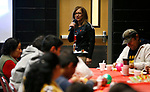 Latino Outreach Coordinator Lupe Ramirez speaks to the crowd at the La Posada Celebration at Western Nevada College, in Carson City, Nev., on Saturday, Dec. 15, 2018. <br /> Photo by Cathleen Allison/Nevada Momentum