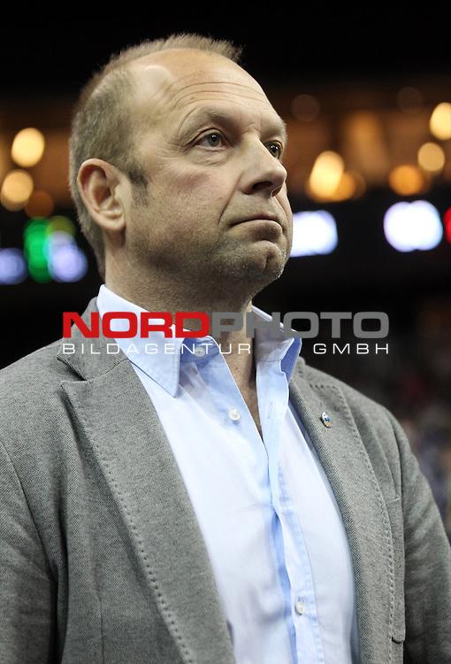 28.03.2015, O2 world, Berlin, GER, 1.BBL, ALBA Berlin vs. Bonn , im Bild Manager Marko Baldi (ALBA Berlin)<br /> <br />               <br /> Foto &copy; nordphoto /  Engler