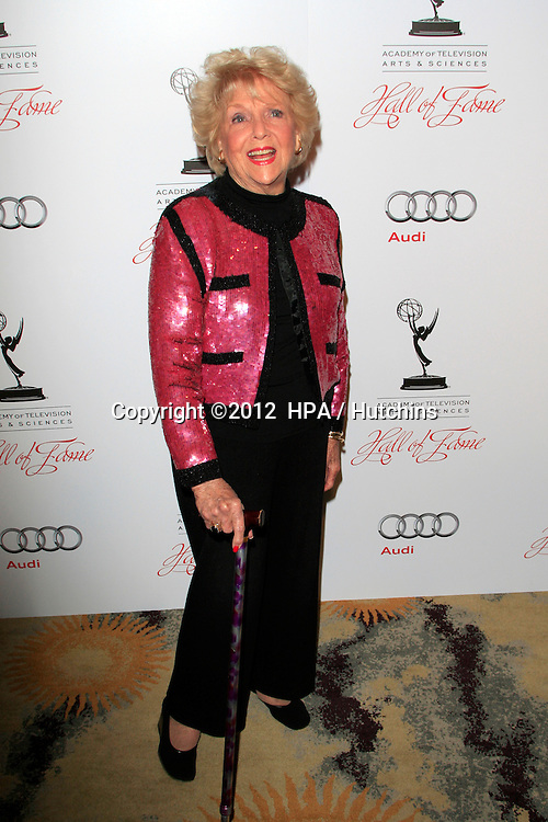 LOS ANGELES - MAR 1:  Doris Singleton arrives at the Academy of Television Arts & Sciences 21st Annual Hall of Fame Ceremony at the Beverly Hills Hotel on March 1, 2012 in Beverly Hills, CA