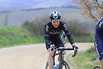 Tao Geoghan Hart (GBR) Team Sky on gravel sector 8 Monte Santa Maria during the 2017 Strade Bianche running 175km from Siena to Siena, Tuscany, Italy 4th March 2017.<br /> Picture: Eoin Clarke | Newsfile<br /> <br /> <br /> All photos usage must carry mandatory copyright credit (&copy; Newsfile | Eoin Clarke)
