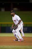 Mesa Solar Sox first baseman Josh Ockimey (28), of the Boston Red Sox organization, during an Arizona Fall League game against the Scottsdale Scorpions at Sloan Park on October 10, 2018 in Mesa, Arizona. Scottsdale defeated Mesa 10-3. (Zachary Lucy/Four Seam Images)