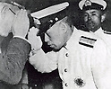 Isoroku Yamamoto, Japanese Naval Marshal General and the commander-in-chief of the Combined Fleet during World War II, masterminded a surprise attack on Pearl Harbor, commencing hostilities against the United States on December 7, 1941. Yamamoto died on April 18, 1943 when his plane was shot down by American P-38s near Bougainville in the Solomon Islands. Adm. Yamamkoto leaves Tokyo station for his comander-in-chief post on August 31, 1939. (Photo by Kingendai Photo Library/AFLO) JMQ