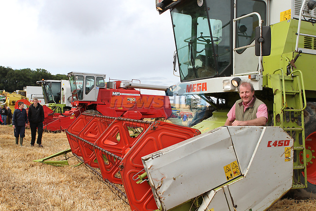 Tom Jenkinson with his Combine at Combines 4 Charity...(Photo credit should read Jenny Matthews/NEWSFILE)...