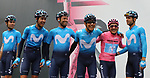 Giro d'Italia - Cycling Tour of Italy<br /> Stage 17th Commezzadura, Anterselva, Antholz. Departure on 29/05/2019 in Commezzadura, Italy. Team Movistar with his leader in peak Richard Carapaz (Ecu)