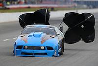 May 15, 2015; Commerce, GA, USA; NHRA pro mod driver Kevin Fiscus  during qualifying for the Southern Nationals at Atlanta Dragway. Mandatory Credit: Mark J. Rebilas-USA TODAY Sports