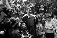 Jacob Rees-Mogg (British Conservative Party politician, Member of Parliament for North East Somerset; he is on the Eurosceptic wing of the Conservative Party).<br />