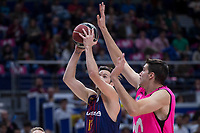 Estudiantes Victor Arteaga and FC Barcelona Lassa Thomas Heurtel during Liga Endesa match between Estudiantes and FC Barcelona Lassa at Wizink Center in Madrid, Spain. October 22, 2017. (ALTERPHOTOS/Borja B.Hojas) /NortePhoto.com