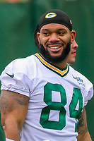 Green Bay Packers tight end Lance Kendricks (84) during an Organized Team Activity on May 23, 2017 at Clarke Hinkle Field in Green Bay, Wisconsin.  (Brad Krause/Krause Sports Photography)