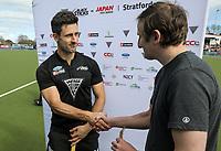 Man of the Match Kane Russell, 4 goals. International Hockey, Blacksticks Men v Japan, TET Multisport Centre, Stratford, New Zealand. Saturday 12 October 2019. Photo: Simon Watts/www.bwmedia.co.nz/HockeyNZ