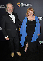 BEVERLY HILLS, CA. October 28, 2016: Lesley Nicol &amp; David Keith Heald at the 2016 AMD British Academy Britannia Awards at the Beverly Hilton Hotel.<br /> Picture: Paul Smith/Featureflash/SilverHub 0208 004 5359/ 07711 972644 Editors@silverhubmedia.com