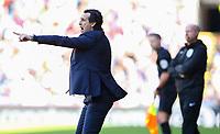 Arsenal manager Unai Emery gestures<br /> <br /> Photographer Alex Dodd/CameraSport<br /> <br /> The Premier League - Burnley v Arsenal - Sunday 12th May 2019 - Turf Moor - Burnley<br /> <br /> World Copyright © 2019 CameraSport. All rights reserved. 43 Linden Ave. Countesthorpe. Leicester. England. LE8 5PG - Tel: +44 (0) 116 277 4147 - admin@camerasport.com - www.camerasport.com