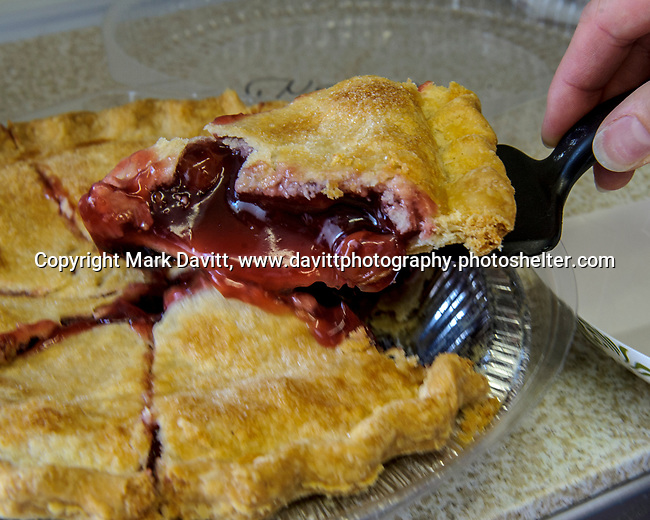 Victory Church served pies by Tina's Homemade <br /> Goodies of Indianola like this cherry pie a the Warren County Fair.