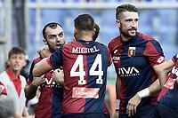 esultanza Genoa autorete Miralem Pjanic owngoal celebration<br /> Genova 26-08-2017 Stadio Marassi Calcio Serie A 2017/2018 Genoa -<br /> Juventus Foto Imagesport/Insidefoto