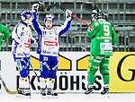 Stockholm 2015-03-14 Bandy Bronsmatch Hammarby IF - Villa Lidk&ouml;ping BK :  <br /> Villa Lidk&ouml;pings Jesper Bryngelson firar sitt 4-2 m&aring;l under matchen mellan Hammarby IF och Villa Lidk&ouml;ping BK <br /> (Foto: Kenta J&ouml;nsson) Nyckelord:  Tele2 Arena SM Brons Bronsmatch Tredjepris herr herrar Hammarby HIF Bajen Villa Lidk&ouml;ping VLBK jubel gl&auml;dje lycka glad happy