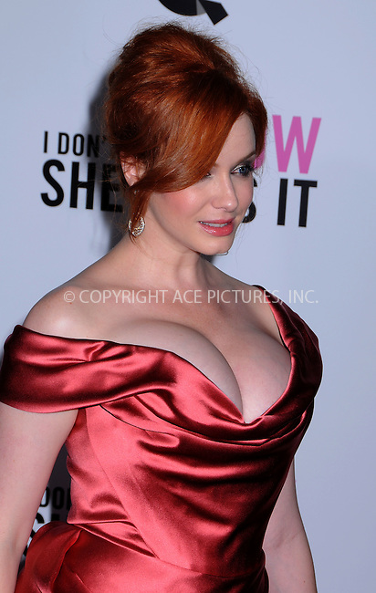 WWW.ACEPIXS.COM . . . . .  ....September 12 2011, New York City....Christina Hendricks arriving at The premiere of 'I Don't Know How She Does It' at AMC Loews Lincoln Square on September 12, 2011 in New York City. ....Please byline: JOE EAST - ACE PICTURES.... *** ***..Ace Pictures, Inc:  ..Philip Vaughan (212) 243-8787 or (646) 679 0430..e-mail: info@acepixs.com..web: http://www.acepixs.com