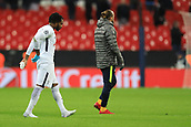 6th December 2017, Wembley Stadium, London England; UEFA Champions League football, Tottenham Hotspur versus Apoel Nicosia; Danny Rose of Tottenham Hotspur walks onto the pitch with signs of an injury holding a ice pack