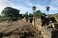 Ruins of a wall of the Fortaleza de la Concepcion, a defensive fortress ordered to be built in 1494 by Christopher Columbus at Vega Vieja, Dominican Republic, in the Caribbean. The brick fort was completed in 1502, but most of it was destroyed in an earthquake in 1562. Picture by Manuel Cohen