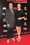 "Armando Del Rio and Laia Alemani attends ""La Ignorancia de la Sangre"" Premiere at Capitol Cinema in Madrid, Spain. November 13, 2014. (ALTERPHOTOS/Carlos Dafonte)"