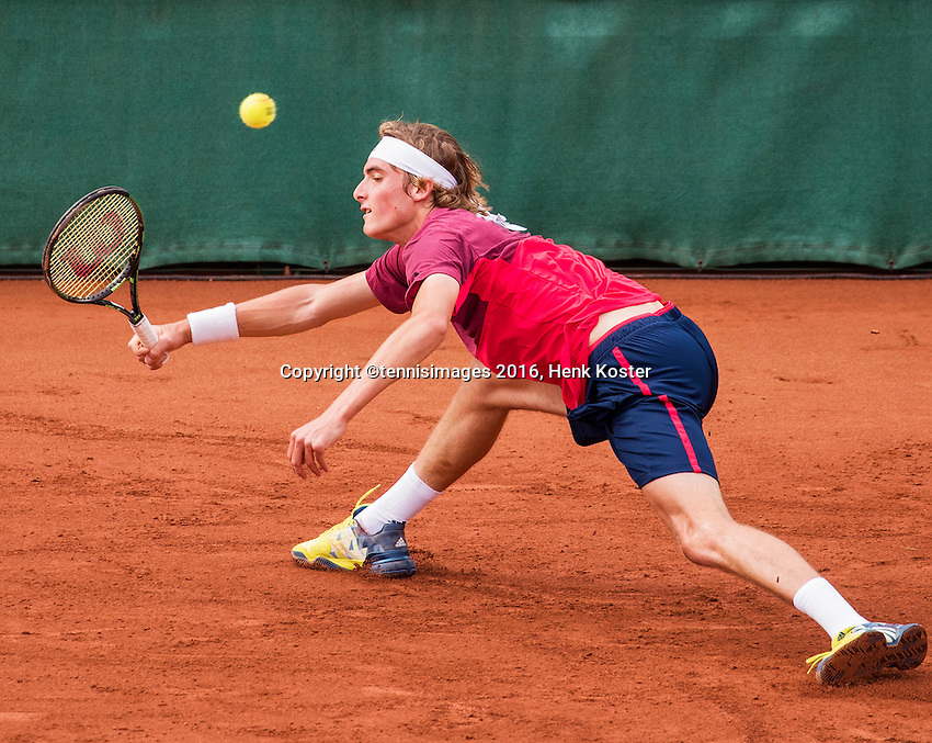 The Hague, Netherlands, 28 July, 2016, Tennis,  The Hague Open, Stefanos Tsitsipas (GRE)<br /> Photo: Henk Koster/tennisimages.com