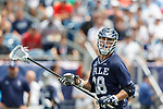 Robert Mooney  (#28) on a clear as Yale defeats UAlbany 20-11 in the NCAAA semifinal game at Gillette Stadium, May 26.