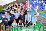 Scoil an Ghleanna, Ballinskelligs received their first Green Flag pictured here at the flag raising ceremony on Monday were front l-r; Ellen Ní Laoire, Iona Wynton, Colette Ní Shúilleabháin, Michael Healy Rae, Cathal Fhiongile agus Katie Ní Cheileachair.