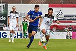 01.08.2020, C-Team Arena, Ravensburg, GER, WFV-Pokal, FV Ravensburg vs SSV Ulm 1846 Fussball, <br /> DFL REGULATIONS PROHIBIT ANY USE OF PHOTOGRAPHS AS IMAGE SEQUENCES AND/OR QUASI-VIDEO, <br /> im Bild Felix Hörger / Hoerger (Ravensburg, #4), Burak Coban (Ulm, #9)<br /> <br /> Foto © nordphoto / Hafner