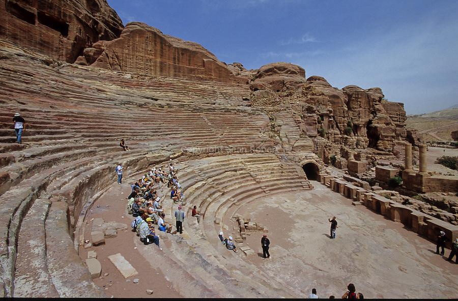 Theater built beginning of Chirstian ere. Middle East. Jordan. Petra