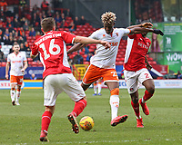 Blackpool's Armand Gnanduillet shapes up to shoot<br /> <br /> Photographer David Shipman/CameraSport<br /> <br /> The EFL Sky Bet League One - Charlton Athletic v Blackpool - Saturday 16th February 2019 - The Valley - London<br /> <br /> World Copyright © 2019 CameraSport. All rights reserved. 43 Linden Ave. Countesthorpe. Leicester. England. LE8 5PG - Tel: +44 (0) 116 277 4147 - admin@camerasport.com - www.camerasport.com