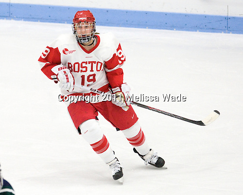 Jenelle Kohanchuk (BU - 19) - The Boston University Terriers defeated the visiting Mercyhurst College Lakers 4-2 in their NCAA Quarterfinal matchup on Saturday, March 12, 2011, at Walter Brown Arena in Boston, Massachusetts.