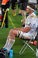 Chiefs lock Michael Allardice sits in the sin bin during the Super Rugby match between the Hurricanes and Chiefs at Westpac Stadium in Wellington, New Zealand on Friday, 9 June 2017. Photo: Dave Lintott / lintottphoto.co.nz