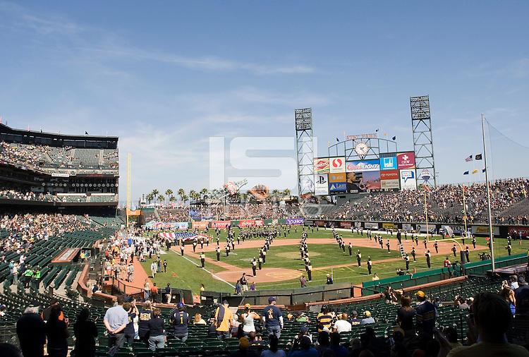 September 17, 2011:  California vs Presbyterian Football game at AT&T Park, San Francisco, Ca   California Defeated Presbyterian 63 - 12