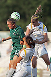 24 June 2009: Christie Welsh (23) of Saint Louis Athletica and Allison Falk (3) of the Los Angeles Sol compete for a head ball as her Sol teammate Stephanie Cox (14) adds support.  Saint Louis Athletica was defeated by the visiting Los Angeles Sol 1-2 in a regular season Women's Professional Soccer game at AB Soccer Park, in Fenton, MO.
