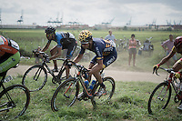 the riders making this race even more off-road then it already is...<br /> <br /> 91st Schaal Sels 201691st Schaal Sels 2016