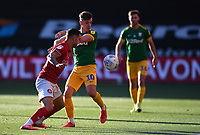 22nd July 2020; Ashton Gate Stadium, Bristol, England; English Football League Championship Football, Bristol City versus Preston North End; Pedro Pereira of Bristol City competes for the ball with Josh Harrop of Preston North End